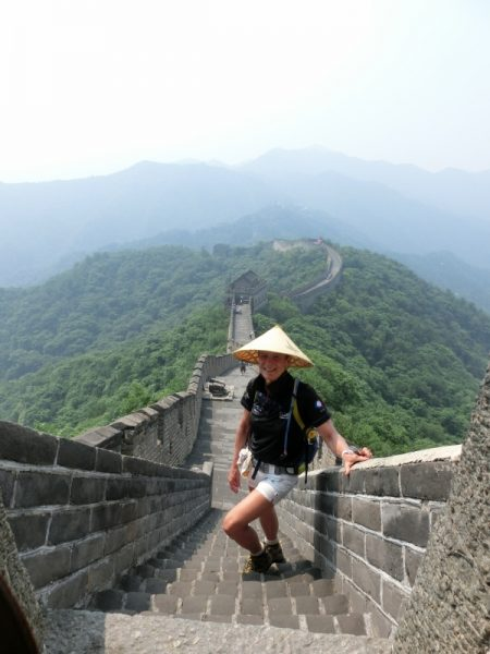 Judy Luxton, 2013, walked the great wall of China to raise money for Mater Little Miracles. Photo: Judy Luxton.