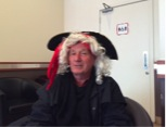 Ian loves to join with disabled students and ham it up as a pirate as part of Good Friday fundraising.