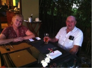 Stanley holidaying in Thailand with close friend Kerry Rowden